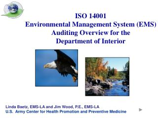 ISO 14001 Environmental Management System (EMS) Auditing Overview for the  Department of Interior