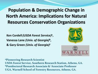 Population  &  Demographic Change in North America: Implications for Natural Resources Conservation  Organizations