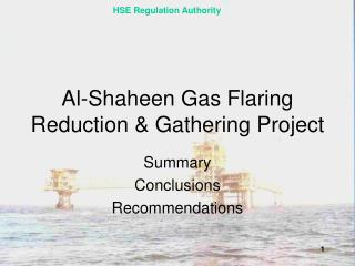 Al-Shaheen Gas Flaring Reduction & Gathering Project