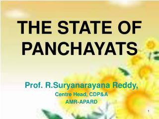 THE STATE OF PANCHAYATS