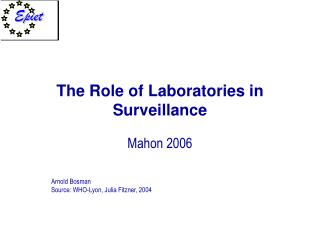 The Role of Laboratories in Surveillance