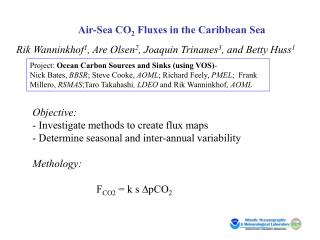 Air-Sea CO 2  Fluxes in the Caribbean Sea Rik Wanninkhof 1 , Are Olsen 2 , Joaquin Trinanes 3 , and Betty Huss 1