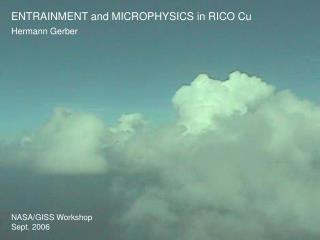 ENTRAINMENT and MICROPHYSICS in RICO Cu