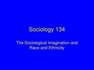 Sociology 134