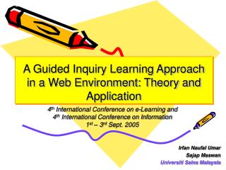 A Guided Inquiry Learning Approach in a Web Environment: Theory and Application