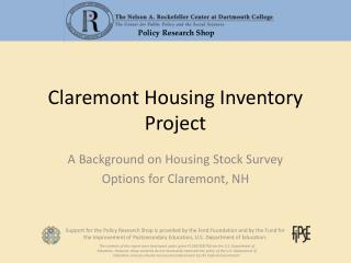 Claremont Housing Inventory Project
