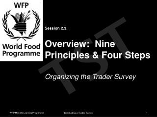 Session 2.3. Overview:  Nine Principles & Four Steps