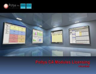 Poltys  CA Modules Licensing