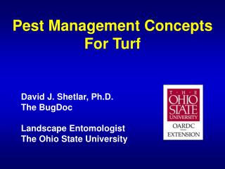 Pest Management Concepts For Turf