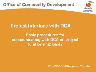 Project Interface with DCA