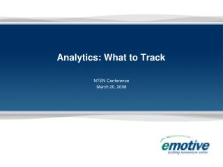 Analytics: What to Track