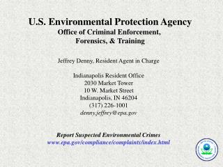 U.S. Environmental Protection Agency Office of Criminal Enforcement,  Forensics, & Training
