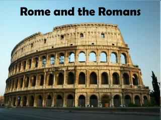 Rome and the Romans