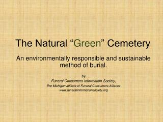 """The Natural """" Green """" Cemetery"""