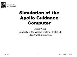 Simulation of the Apollo Guidance Computer