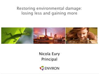 Restoring environmental damage:  losing less and gaining more