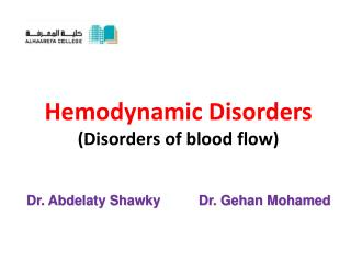 Hemodynamic Disorders (Disorders of blood flow)