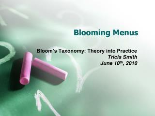 Blooming Menus