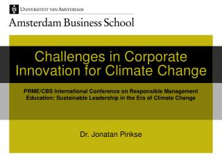 Challenges in Corporate Innovation for Climate Change