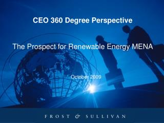 CEO 360 Degree Perspective The Prospect for Renewable Energy MENA