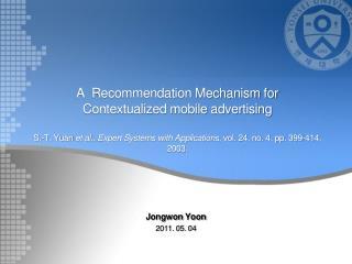 Jongwon  Yoon 2011. 05. 04