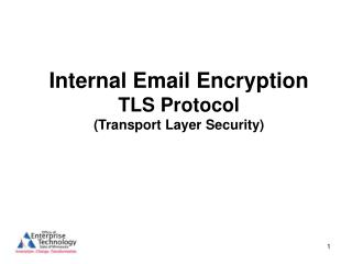 Internal Email Encryption TLS Protocol (Transport Layer Security)