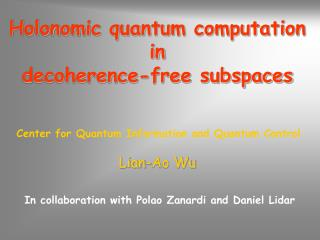 Holonomic quantum computation in  decoherence-free subspaces