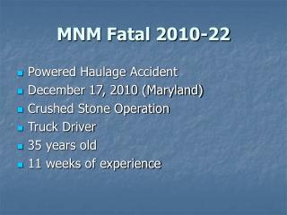 MNM Fatal 2010-22
