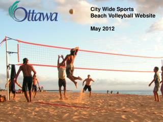 City Wide Sports Beach Volleyball Website May 2012