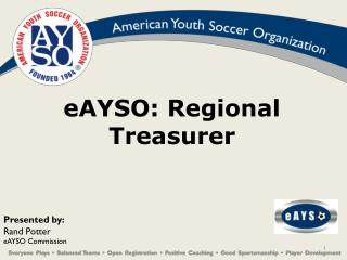 eAYSO: Regional Treasurer