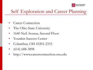 Self Exploration and Career Planning