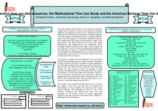 Comparative time use data resources: the Multinational Time Use Study and the American Heritage Time Use datasets