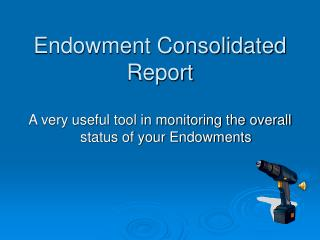 Endowment Consolidated Report