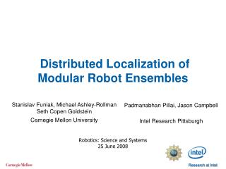 Distributed Localization of Modular Robot Ensembles