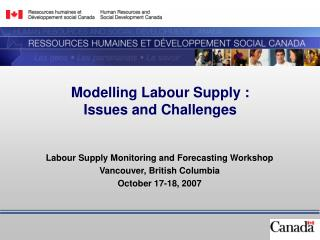 Modelling Labour Supply :  Issues and Challenges