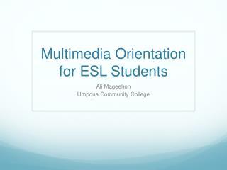 Multimedia Orientation for ESL Students