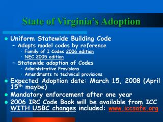 State of Virginia s Adoption