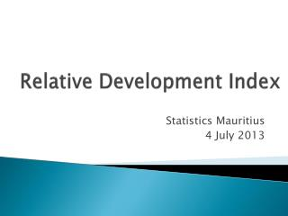 Relative Development Index
