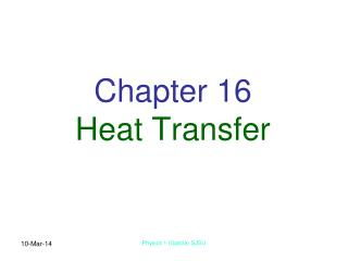 Chapter 16 Heat Transfer
