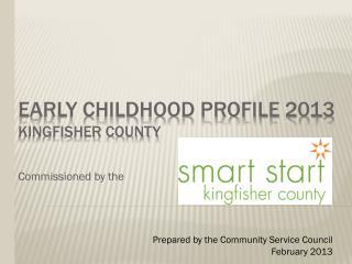 Early Childhood Profile 2013 kingfisher County