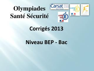 Olympiades Sant� S�curit�