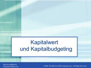 Kapitalwert und Kapitalbudgeting
