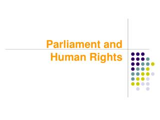 Parliament and Human Rights