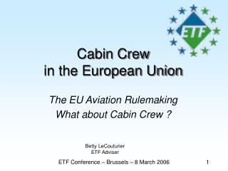 Cabin Crew  in the European Union
