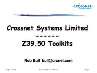 Rob Bull  bull@crxnet.com