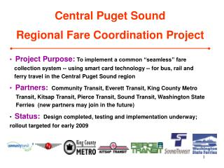 Central Puget Sound Regional Fare Coordination Project