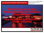 South African Bureau of Standards: AUTOMOTIVE REGULATORY