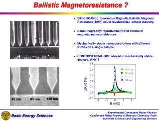 Ballistic Magnetoresistance ?