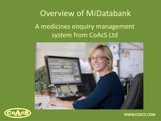 Overview of M i Databank