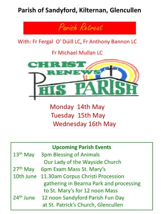 Parish of  Sandyford ,  Kilternan ,  Glencullen